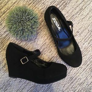 Girls wedge heel Mary Janes